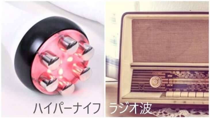 <効果比較>ハイパーナイフとラジオ波の違いとは?~簡単解説~